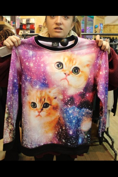 galaxy cats top