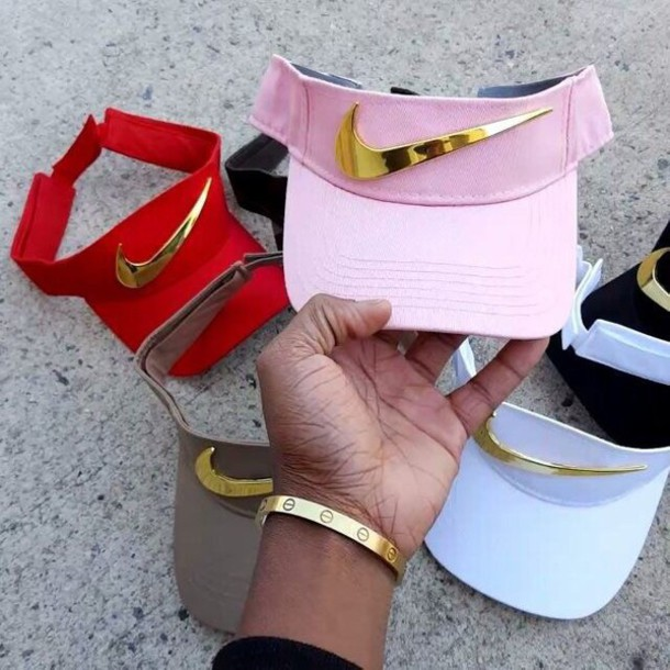 hat nike gold visor check 606a8037817