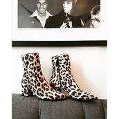 shoes,tumblr,boots,leopard print,animal print,printed boots,mid heel boots,ankle boots