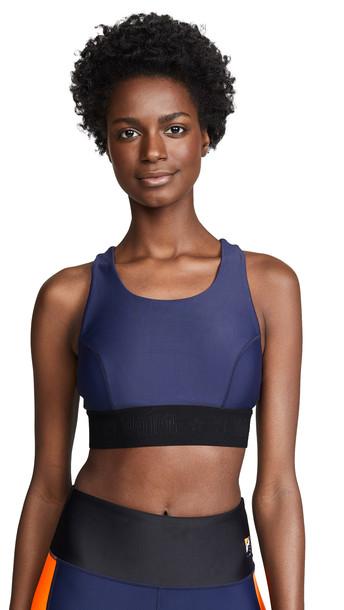 bra sports bra navy orange underwear