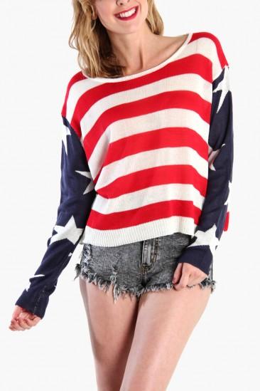 Omg american flag sweater