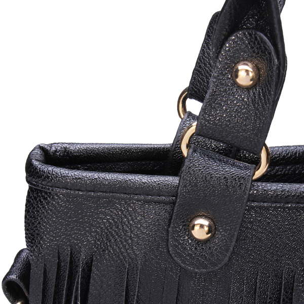 Korean style long tassel rivet bag women shoulder messenger handbag