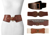 belt,brown,beige,buckles,wide,waist belt