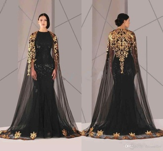dress gold and black dress
