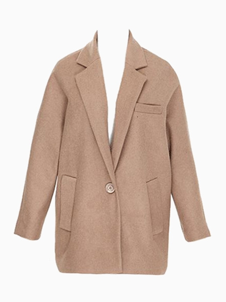 Oversize Blazer Coat in Brown | Choies