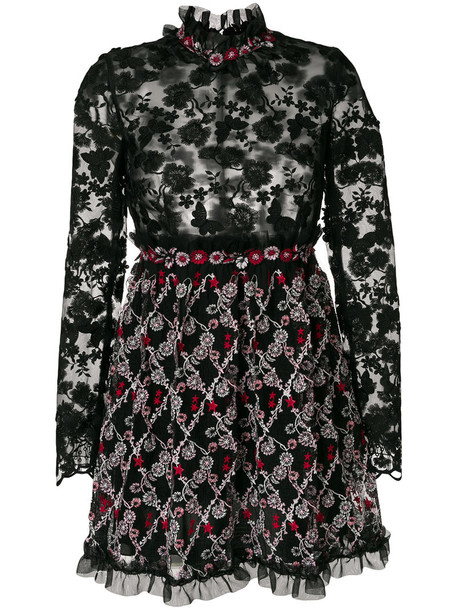Giamba dress floral dress embroidered women floral black