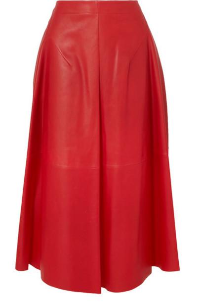 Jil Sander skirt midi skirt midi leather red