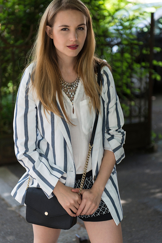 fashion gamble jacket blouse shorts bag shoes jewels
