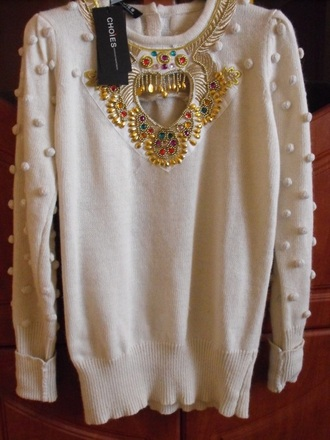 sweater embroidered clothes bloggers heart winter sweater