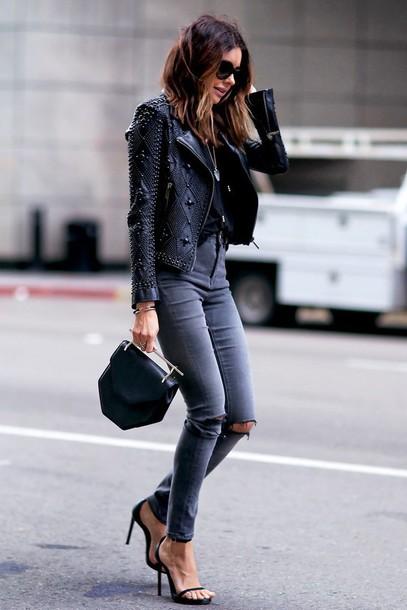 Jacket Embellished Leather Jacket Embellished Embellished Jacket