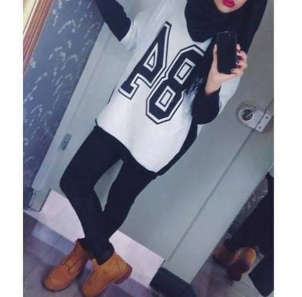 Shirt Swag Swag Top Hijab Baseball Tee Baseball Jersey Football Shirts Sportswear Winter