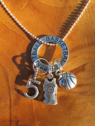 jewels number 13 tee basketball necklace pendant