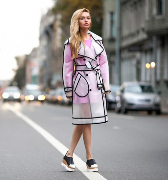 raincoat skater dress pastel dress pretty dress swag streetstyle stylemoi see through jacket
