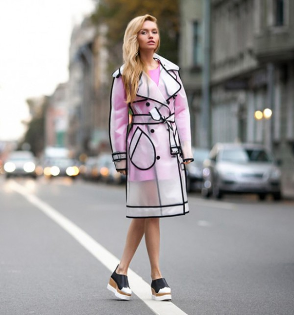 skater dress pastel dress dress swag streetstyle stylemoi see through jacket raincoat