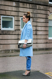 the little magpie,coat,bag,t-shirt,jeans,shoes,jewels,weave,hair accessory,hair extensions