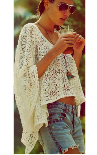 blouse lace top lace swimwear summer top top white crop tops white top white shirt boho chic boho shirt fashion festival gypsy hipster hippie boho jewelry style stylish bohemian summer dress summer summer outfits hot coat jumpsuit dress jewels