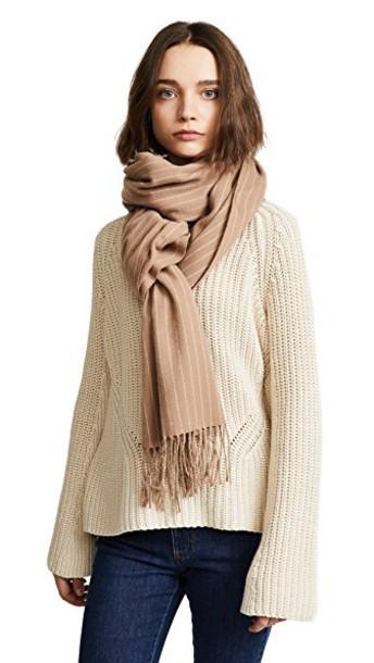 Rag & Bone classic scarf wool camel