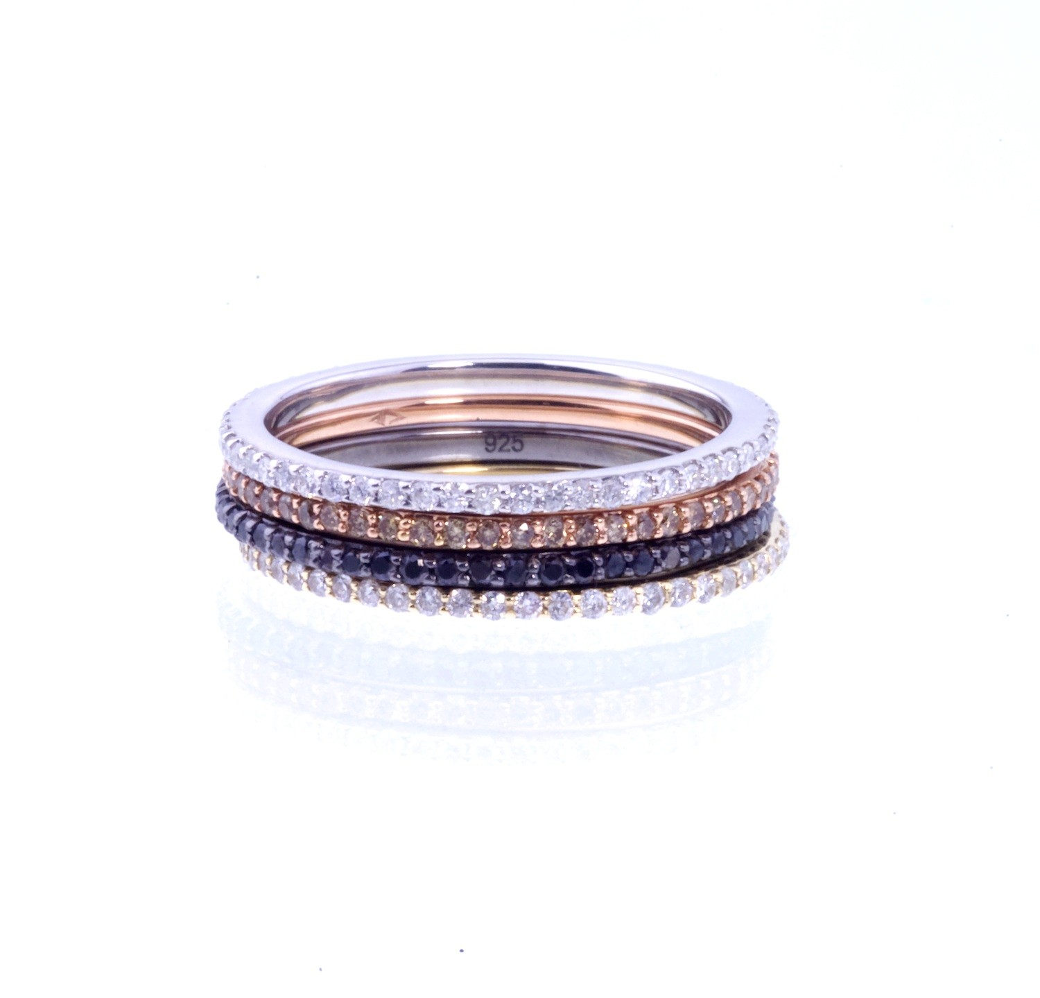 Simple leigh pave diamond ring, rose gold by alexa leigh