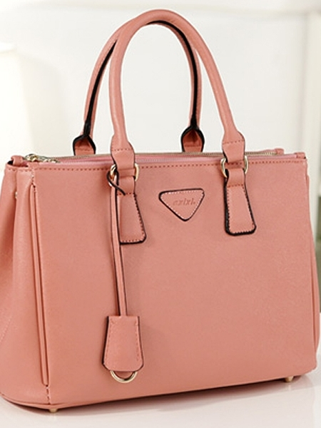 Western Pure Color Brief Elegant PU Handbag