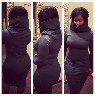 dress hooded dress