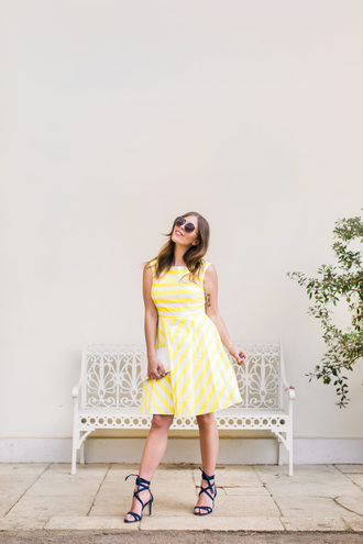wish wish wish blogger dress sunglasses bag shoes