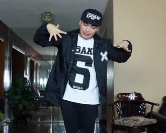 jacket jre korean fashion seoul k-pop black stylish rock music korean style coat shirt jeans