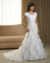 dress,bonny wedding dress,cap sleeve wedding dress