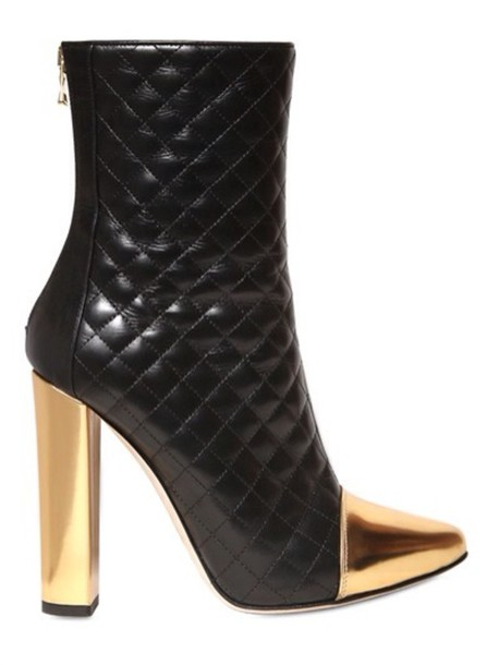 shoes black quilted balmain