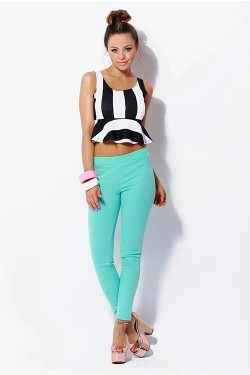 So Fresh Mint Leggings  - Mint & Pink