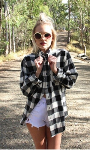 Vintage oversized flannel shirt