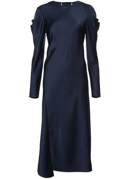 Tibi dress women blue silk