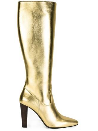 high knee high boots knee high boots metallic shoes