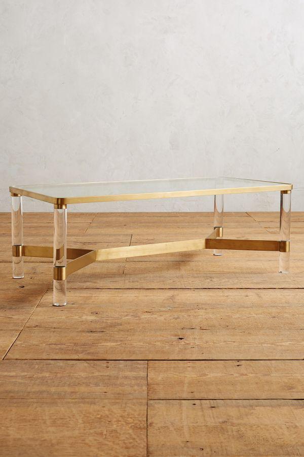 Oscarine Lucite Coffee Table, Rectangle