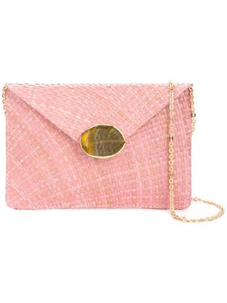 envelope clutch women embellished clutch cotton purple pink bag