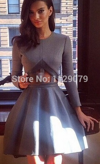 dress grey cut-out dress style scuba dress flowy