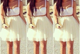 tank top tank top corset white strap summer spring concert skirt tutu