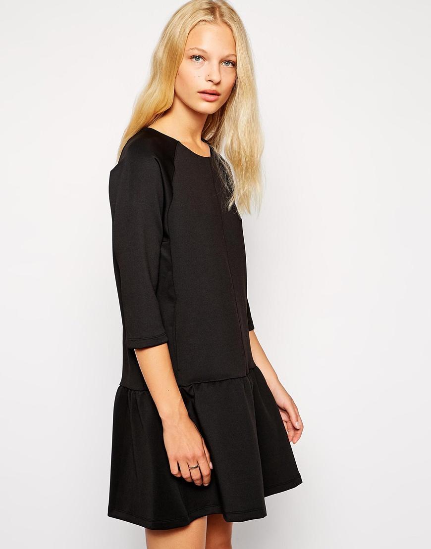 Weekday dropped peplum dress at asos.com