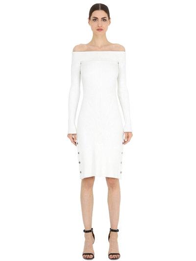 LUISAVIAROMA.COM - CAMEO - OFF THE SHOULDER KNIT DRESS