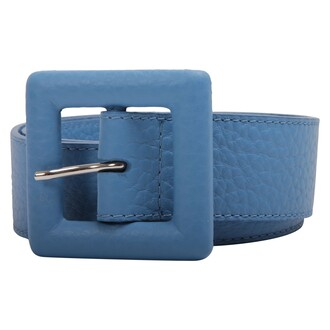 soft belt leather blue