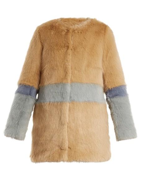coat fur coat fur beige