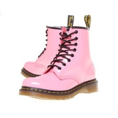 shoes,boots,pink,DrMartens,light pink,cute,kawaii,funny