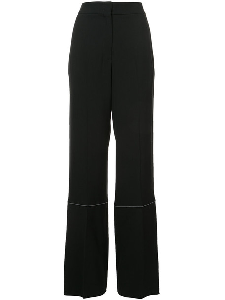 Proenza Schouler women spandex black wool pants
