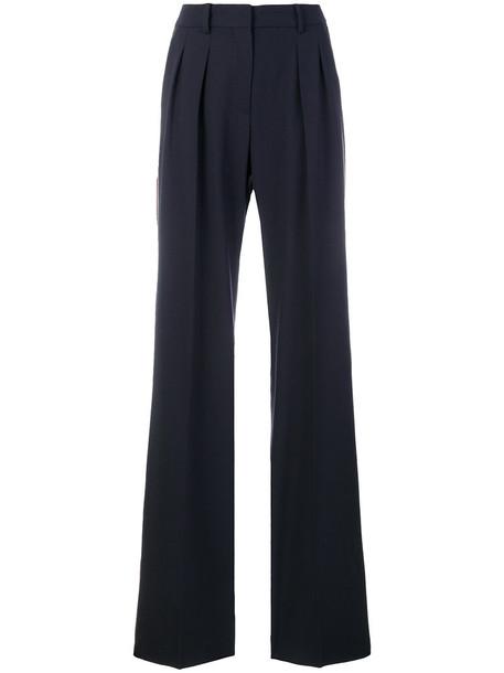 Max Mara women spandex blue wool pants