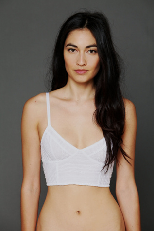 intimately womens lace crop bra