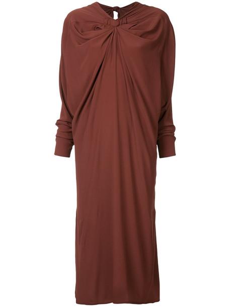 MARNI dress women silk brown