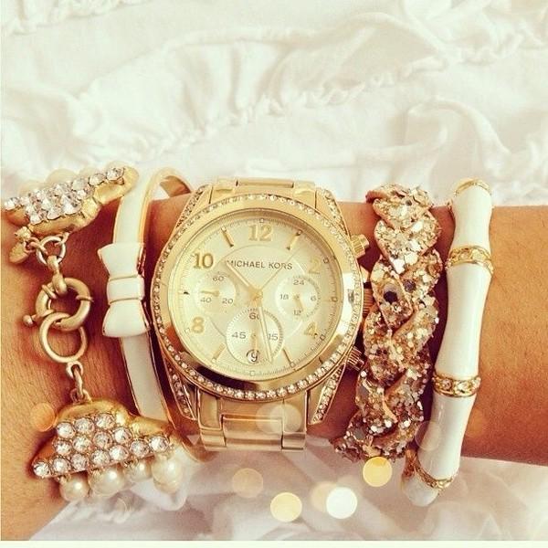 jewels watch gold elegant michael kors arm candy bracelets accessories