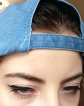 tumblr,denim,snapback,hat,blue,denim hat,grunge,jean hat