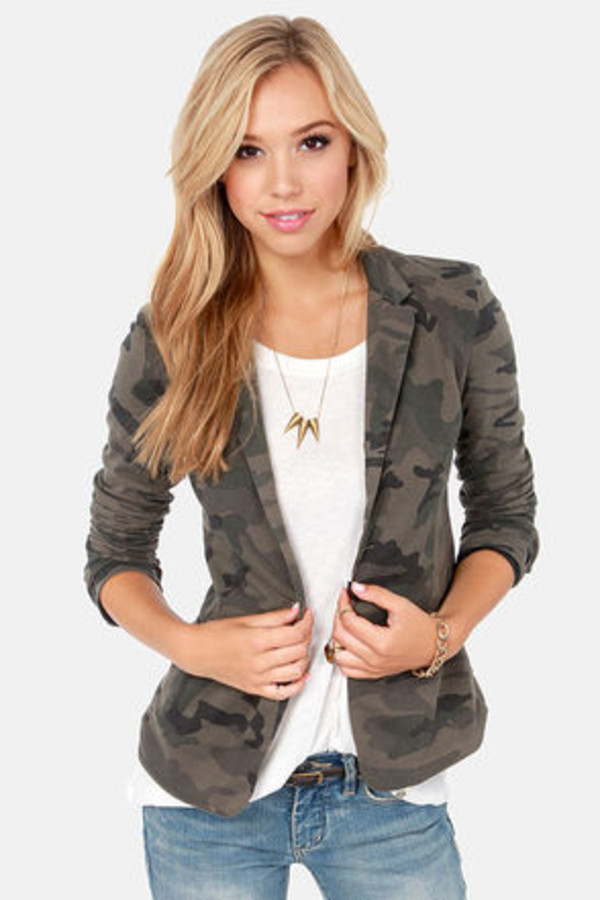 jacket camouflage camo jacket green suit jacket