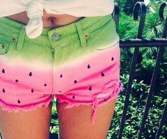 shorts summer fruits watermelon