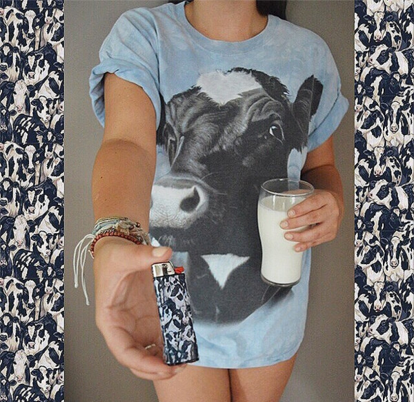 blouse cow t-shirt